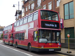 Breaking The Green Zone (londonbusexplorer) Tags: goahead london volvo b7tl plaxton president pvl391 lx54hae 93 putney bridge wimbledon north cheam tfl buses strike extra