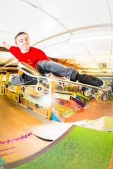 Melon (brendon_curtis) Tags: canon 5dmkiii eos usm 15mm f28 fisheye lens skate skateboard skateboarding robbie boneless skater rad skatepark tucked melon grab vert flash strobes