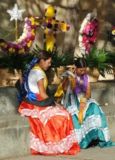 Dancers Resting Oaxaca Mexico