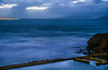 high tide at the baths (pbo31) Tags: sanfrancisco california nikon d810 color april spring 2018 boury pbo31 landsend outerrichmonddistrict pacific ocean over night dark blue bluehour sutrobaths tide ruins sky ship lightstream sail container