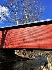 Thurmont MD ~ Roddy Rd Covered Bridge (karma (Karen)) Tags: thurmont maryland frederickco bridges roddyrdcoveredbridge streams owenscreek trees branches walls hww