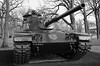 Div. 1 Tank, Cantigny Park. (Leica XV) (Mega-Magpie) Tags: cantigny park wheaton dupage il illinois usa america outdoors bw black white mono monochrome leica x vario tank div 1