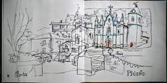 Aldeia de Piodão - Portugal (JMADesigner) Tags: sketchs urbansketchers urbansketchs sketchcrawl sketchbook sketchers arganil piodão