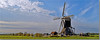 Tiendwegse mill-pano (Leo Huijzer) Tags: dutch mill panorama landscape pasture grassland water grind countryside holland