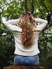 Summer #2 (alexfossett) Tags: isabellaplantation richmond park richmondpark model supermodel london fashion style blonde girl denim cream brown blue green olympus omd em5 hair 12100mm f4 pro life photography