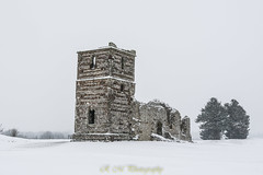 Snowy scenes at Knolton Church (R M Photography) Tags: sigma sigma1835f18 sigma1835mmf18 nikon d3300 snow snowy church knowltonchurch ruins snowing