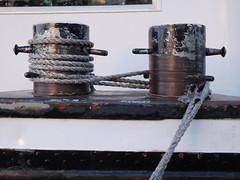 Docked (EvelienNL) Tags: boat ship vessel inland dock docked quay bitts shipboard ropes steel weathered bollard mooring schip boot binnenvaart bolder meerpaal aangemeerd staal tros scheepstros touwen kade moored