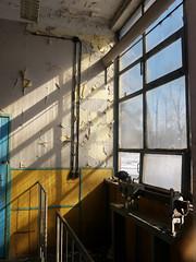 inside (Darek Drapala) Tags: inside industrial window shadow shade silkypix working old place sun sunbeams sunblink sunshine sunlight panasonic poland polska panasonicg5 warsaw warszawa lumix light urban workshop