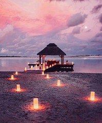(alessandrocetto) Tags: pair table dinner clouds sky moon relaxing relax goals couple water fire light pink romantic ocean sea candles vacation holiday trip love amazing travel island maldives