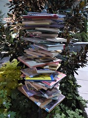 Chicago, Navy Pier, Chicago Flower & Garden Show, Book Towers As a Garden Accessory (Mary Warren 10.4+ Million Views) Tags: chicago navypier chicagoflowergardenshow garden paper books tower