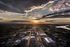 Westward Glance (Mariposaland Photos) Tags: i630 arkansascapitol arkansasriver sunset downtownlittlerock view westlittlerock skyline downtown clouds