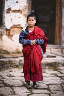 Bhutan: Portrait of a Young Monk.