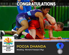 Pooja Dhanda wins silver at gold coast cwg 2018 (Cloudy4u) Tags: 2018 commonwealthgames goldcoast india poojadhanda silvermedal womensfreestyle wrestling
