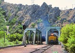 UP 3705                      6-8-82 (C E Turley) Tags: railway railroad trains up tunnel unionpacific