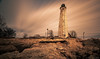 Lighthouse Work 2 (Gary Walters) Tags: lighthouse rocks landscape connecticut a7r2 water a7r ii gary walters seascape sony brown shore harbour five mile point a7rii fivemilepointlighthouse garywalters longexposure clouds