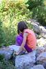Exploring on the Rocks (Vegan Butterfly) Tags: outside outdoor whitemud ravine nature reserve edmonton alberta vegan child kid person cute adorable rocks candid