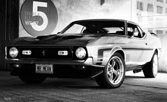 one of my personal fav pics.. (Stu Bo) Tags: sbimageworks shadows showcar sunlight blackandwhite bw bnw monotone 1971mustangmach1 mustangsunlimited musclecar ford ride rebel reflections dreamcar goodtimes vintageautomobile oldschool onewickedride killer kool coolcar 351cleveland
