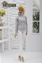 Natalia in hand-knitted sweater by ELENPRIV (elenpriv) Tags: natalia handknitted sweater elenpriv elusive creature 12inch fashionroyalty doll integrity toys jason wu spring melody collection handmade clothes elena peredreeva