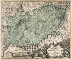 Johann Baptist Homann - Marchionatus Moraviae Circulus Hradistiens (1716) (Pau NG) Tags: johannbaptisthomann art maps 1716 moravia