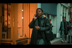 """""""The most important thing is that we're walking our talk be it just be it. -Gabby Bernstein- (Lorrainemorris) Tags: streetphotography candid expression filmnoir batis sony7rm2 city ireland dublin movieclip cinematic phone talking walking"""