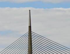 white & blue (dtankosic) Tags: bridge beograd belgrade sava ciganlija clouds manual nikkorf4580200 serbia srbija sky diagonals