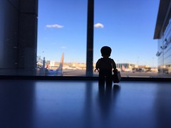 Leaving on a jet plane (095/365) (robjvale) Tags: suitcase airport planes logan boston project365 lego adventurerjoe iphone