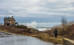 Angling for the Shot (Bud in Wells, Maine) Tags: kennebunkport maine storm coastal coast surf oceanave newengland
