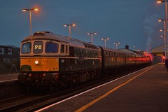Waiting To Head Home (Jordon Skinner) Tags: class 33 012 d6515 lt jenny lewis rn awaits right away from guard head swanage with final stin 5z43 yeovil junction 13042018 west coast railways railway u boat 31806