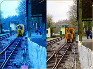 Train at Brockham Station at Amberley Chalk Pits Museum 52 Weeks of 2018 Week #15 Choose The Wrong White Balance