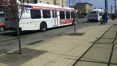 #8150 at 49th & Woodland (NeoplanDan) Tags: septa trains rail transit bus new flyer d40lf