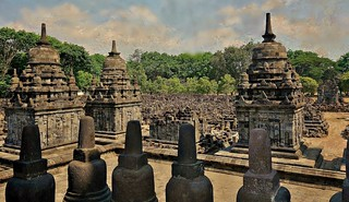 INDONESIEN, Java, Tempelanlage  Candi Sewu, 17365/9912