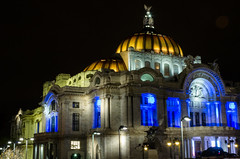 Bellas Artes Nocturna (flea_14) Tags: architecture arquitectura mexico cdmx downtown night bellasartes building colors lights light sculpture