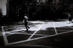 let's run away (s@brina) Tags: people monochrome city street movement running light shadow scene lines
