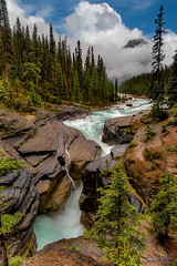 Mistaya Mysteries (Jeff Stamer (Firefallphotography.com)) Tags: banffnationalpark firefallphotography firefallphotographycom jeffstamer mistayacanyon canada river clouds mountains rockymountains alberta