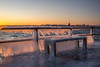 Warnemünde Mole im Winter (fotodehro) Tags: warnemünde mole winter eis sonnenaufgang