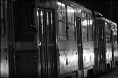 tram in the night (Arpadkoos) Tags: tram night electrical light pentacon exa exa2