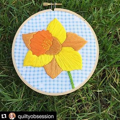 Check out @quiltyobsession version of the free #daffodil pattern. Doesn't it look fab on gingham! ...... #Repost @quiltyobsession (@get_repost) ・・・ I am always a little relieved when winter finally gives way to spring. This year is no exception - bring on (ohsewbootiful) Tags: ifttt instagram embroidery etsy etsyuk gifts giftsforher homedecor hoopart fiberart handembroidery handmade etsyseller embroideryhoop shophandmade handmadegifts decor wallhanging bestofetsy instaart hoopsofinstagram madebyme stitchersofinstagram