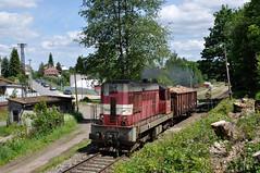 CDC 742 380 met Eas-u, Lomnice nad Popelkou, 08-06-2017 by Michael Postma - Op bijgaande foto is het vertrek van de buurtgoederentrein Mn 84150 uit Lomnice nad Popelkou te zien. De tweemaal in de week rijdende trein keert weer terug naar Libuň.
