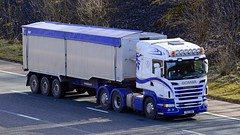 PX13 BBK (panmanstan) Tags: scania r560 wagon truck lorry commercial bulk freight transport haulage vehicle m6 motorway eamontbridge cumbria