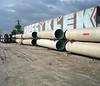 Beat the rain (ADMurr) Tags: la eastside pipes ground grafitti wall clouds pole mamiya 7 kodak ektar 80mm mf 6x7 daa133