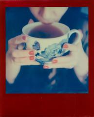 Tea Ceremony (Blackhur.st) Tags: polaroidslr680 tip impossible lucky8 redframe instant integral film analogue tea china teacup oversized sip drink imbibe ceremony blackhurst