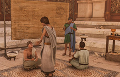 Scholars studying Euclid's Geometry in the Mouseion of ancient Alexandria in Assassin's Creed Origins Discovery Tour (mharrsch) Tags: ancient egypt alexandria mouseion library scholar study research assassinscreed discoverytour mharrsch game videogame computergame euclid geometry