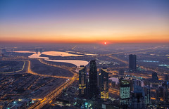 _MG_3536 - Sunrise from At the Top, Burj Khalifa (AlexDROP) Tags: 2018 dubai uae travel sunrise architecture water color city urban landscape canon6d ef241054lis best iconic famous mustsee picturesque postcard bluehour