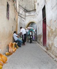 "Narrow Street in a Living Museum (UrbanGrammar) Tags: urban ""new urban"" urbanism streets traffic ""pedestrian realm"" ""fused grid"" zones"" ""main street"" culdesac loop neighbourhood ""street patterns"" ""healthy urbanism"" mobility accessibility tranquility safety delight infrastructure connectivity ""urban park"" carfree adaptation mixeduse fez marrakesh"