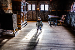 A little wolf in a 16th century room! (The Ultimate Photographer) Tags: aarhus denmark holiday child toddler boy museum 16thcentury 16th century streetphotography livingroom canon6d ultimatephotographer wolf littlewold hat cold winter jackets michelin bibendum darkroom architecture browndeco decoration history baby littleboy children visit light lighting window windowlight standinthelight weekend away