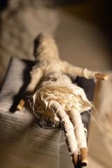(Danny W. Mansmith) Tags: smallart handmade dannymansmith figure doll sewing treebranches muslin blackthread