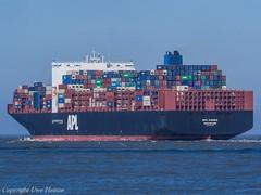 APL Vanda 03 (U. Heinze) Tags: cuxhaven elbe nordsee wasser ship schiff vessel containerschiff olympus boot boat