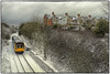 Departing Penarth (Welsh Gold) Tags: arriva trains wales class 142 dmu 2h08 penarth ystrad mynach service snow scene penarthsouthwales