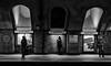 Baker Street (Nikonsnapper) Tags: olympus omd em1 zuiko 1240mm london underground bakerstreet platform bw cool uncool cool2 cool3 cool4 uncool2forsomebody cool5 cool6 cool7 iceboxcool