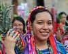 Smiling Woman Oaxaca Mexico (Ilhuicamina) Tags: woman mexicana oaxaca dancer pineapple flordepina sonrisas smiles gente
